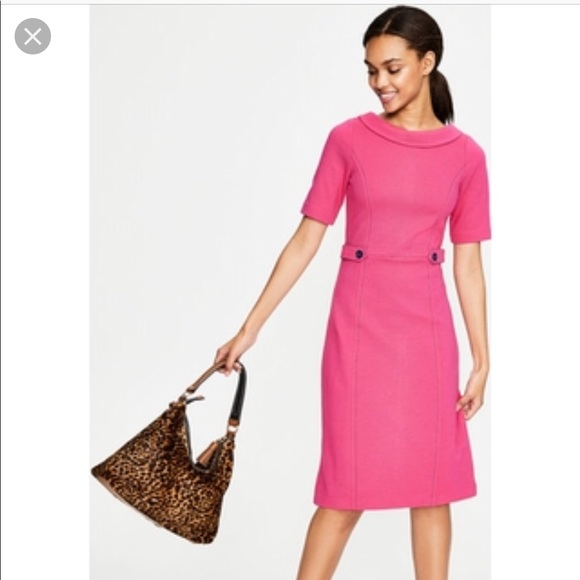 Boden Dresses Pink Betty Ottoman Dress Uk 8p Us 4 P Flaw Poshmark